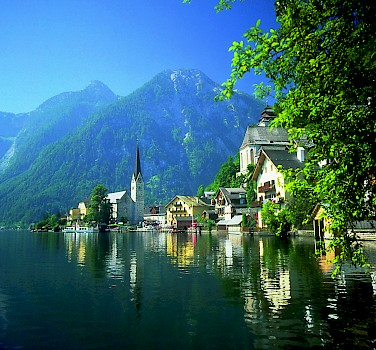 Gorgeous lakeside town of Hallstatt on Hallstätter See in Upper Austria. Photo courtesy of Austrian National Tourist Office
