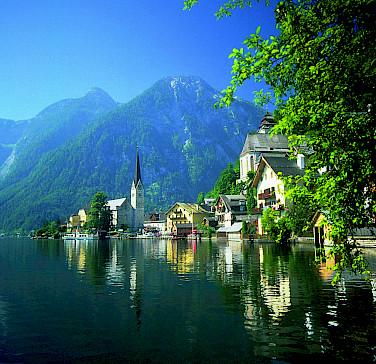 Gorgeous lakeside town of Hallstatt on Hallstätter See in Upper Austria. Photo courtesy of Austrian National Tourist Office