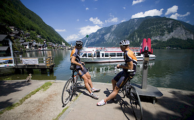 Waiting for the ferry to cross the Salzkammergut lakes. Photo courtesy of Austrian National Tourist Office