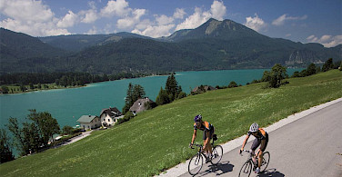 Biking in the Salzkammergut region of Austria. Photo via Tour Operator.