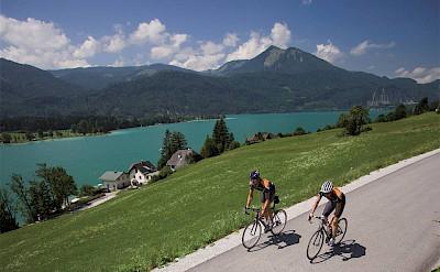 Biking in the Salzkammergut region of Austria. Photo via Tour Operator.