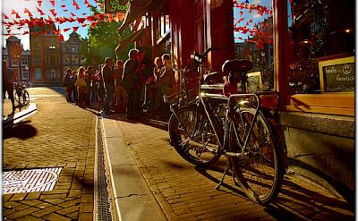 Bike rest in Amsterdam. Photo via Flickr:Moyan Brenn