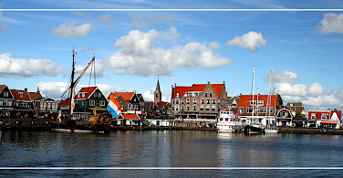 Harbor in Volendam, North Holland. Photo via Flickr:Benito Serafini