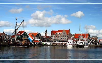 Harbor in Volendam, North Holland. Photo via Flickr:Benito Serafini