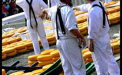 Cheese Market in Alkmaar, North Holland, the Netherlands. Photo via Flickr:manuel MC