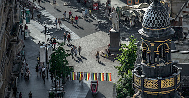 Looking down on Antwerp, Belgium. Photo via Flickr:Willy Verhulst