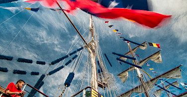 Tall Ship Race in Antwerp, Flanders, Belgium. Photo via Flickr:Willy Verhulst