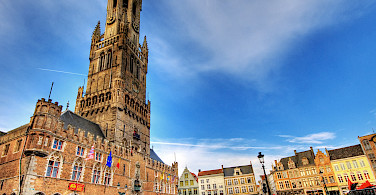 Belfort Tower in Bruges, West Flanders, Belgium. Photo via Flickr:Wolfgang Staudt