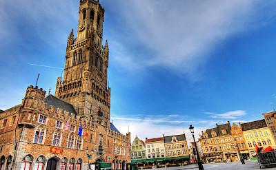 Belfort Tower in Bruges, West Flanders, Belgium. Photo via Flickr:Wolfgang Staudt