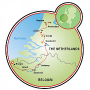 Tulip Tour - Bruges to Amsterdam - 8 day Map