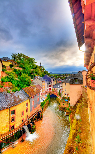Saarburg lies on the Saar River, Germany. Flickr:Wolfgang Staudt