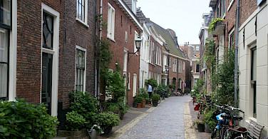 Side street in Haarlem, North Holland, the Netherlands. Flickr:David Baron