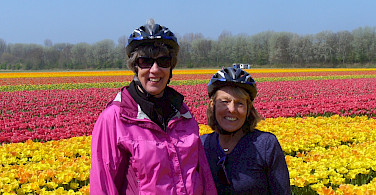 Cycling Holland and the Tulip Fields! Photo courtesy of Jantien Wondergem from the Merlijn ship.