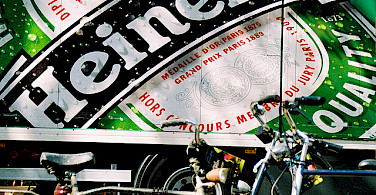 Heineken with your bike tour? Photo via Flickr:DainoFl