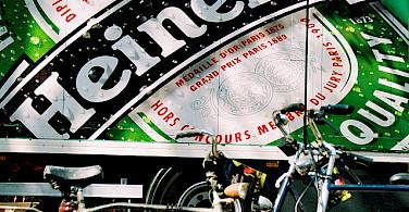 Heineken with your bike tour? Photo via Flickr:DainoFl