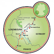 Metz to Cochem Map