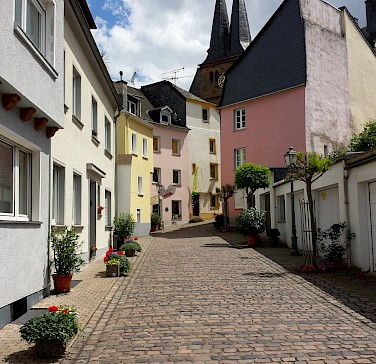 Cobbled streets in Saarburg, Germany along the Saar River. Photo via Flickr:Steve Watkins