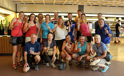 Group shot on the Champagne tasting tour. ©TO