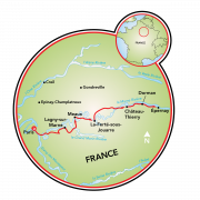 Champagne Tour Map