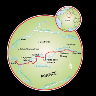 Champange Tour Map
