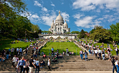 Sacre Coeur in Montmartre in Paris, France. Flickr:Diego Albero Roman