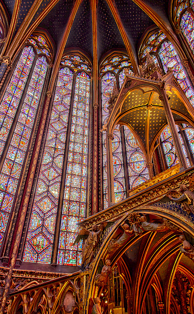 Saint Chapelle in Paris, France. CC:Denfr