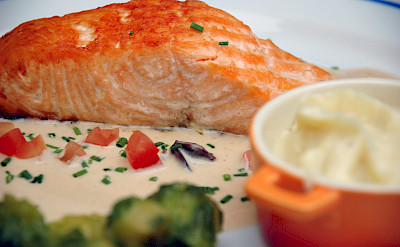 Salmon in Epernay, France. Flickr:Pug Girl
