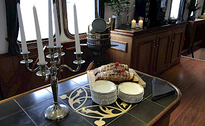 Dining room aboard the Magnifique | Bike & Boat Tours