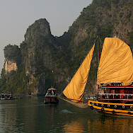 Vietnam's famous outcroppings at UNESCO World Heritage Site Ha Long Bay. Photo via Flickr:gregw66