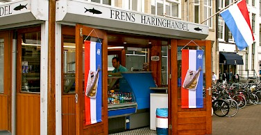 A Haring (Herring) Shop in Amsterdam. Photo via Flickr:cheeseslave