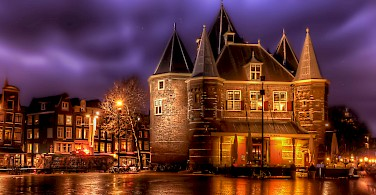 Weigh House in Amsterdam, North Holland, the Netherlands. Photo via Flickr:Elyktra