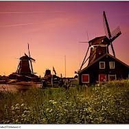 Sunset in Zaanse Schans, Zaandam, the Netherlands. Flickr:Moyan Brenn