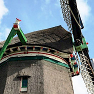 Windmills are all over Europe!!! This one is at the Zaanse Schans. Photo via Netherlands Board of Tourism