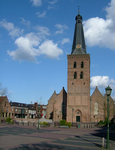 The Old Church in Barneveld town square - picture courtesy of wikimedia.org