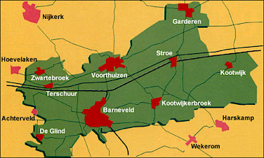 Map of Barneveld and surround communities.