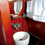 Cabin Bathroom - Vietnamese Junks | Bike & Boat Tours