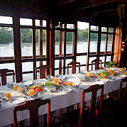 Dining Area - Vietnamese Junks | Bike & Boat Tours