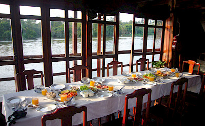 Dining Area - Vietnamese Junks | Bike & Boat Tours