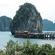 Vietnamese Junk - docked