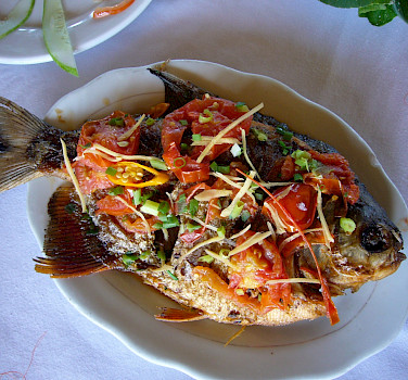 Fresh fish - Vietnamese Junks | Bike & Boat Tours
