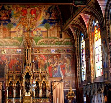 Elaborate churches in Bruges, Belgium. Flickr:Olivier Duquesne