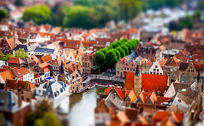 Overlooking Bruges in Belgium. Flickr:Andres Nieto Porras