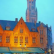 Burg Square in Bruges with many cafes. Flickr:Dennis Jarvis