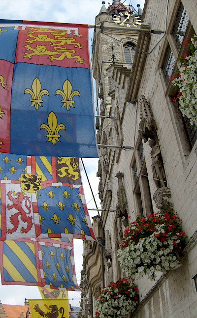 Flags of Dendermonde in East Flanders, Belgium. Flickr:Taco Witte