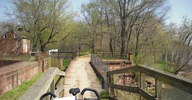 Scenic bike path