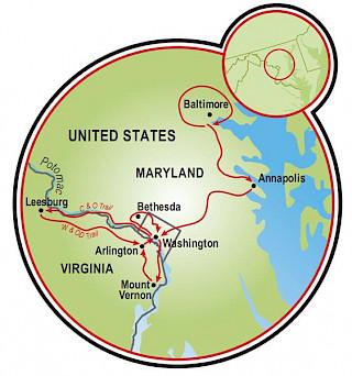 Tour por tres ciudades Map