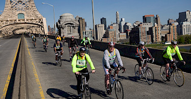 Over the bridges, courtesy of Bike NY