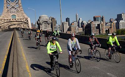 Over the bridges, courtesy of Bike NY
