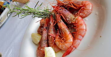 Shrimp galore in Spain! Photo by Patrick Hickey