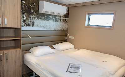 Lower deck double cabin | De Holland | Bike & Boat Tours